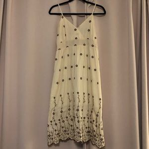 Hand-embroidered sun dress